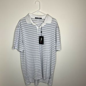 NWT RLX Ralph Lauren Mens XL White Gray Blue